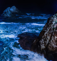 swept away in the dark pacific (pbo31) Tags: ocean sanfrancisco california blue winter sea panorama black color nature water night dark nikon rocks waves pacific earth large panoramic motionblur shore bayarea oceanbeach february westcoast stitched 2016 goldengatenationalrecreationarea outerrichmond boury pbo31 d810