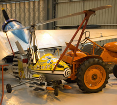 G-ARZB (Little Nellie) Wallis WA-116 Series 1 Hiding at Old Warden (Dave Russell (1.5 million views thanks)) Tags: old england film star james flying little you live aircraft air collection helicopter only 1967 bond vehicle twice bp warden nellie shuttleworth wallis 007 rop autogyro wa116 garzb