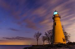 Star Studded Twilight (subhashishazarika) Tags: longexposure winter ohio sky lighthouse lake art night star frozen twilight nikon marblehead michigan sigma erie sigmaart