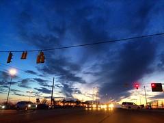 Polaris Twilight (tim.perdue) Tags: sunset sky clouds lights twilight traffic dusk parkway intersection polaris