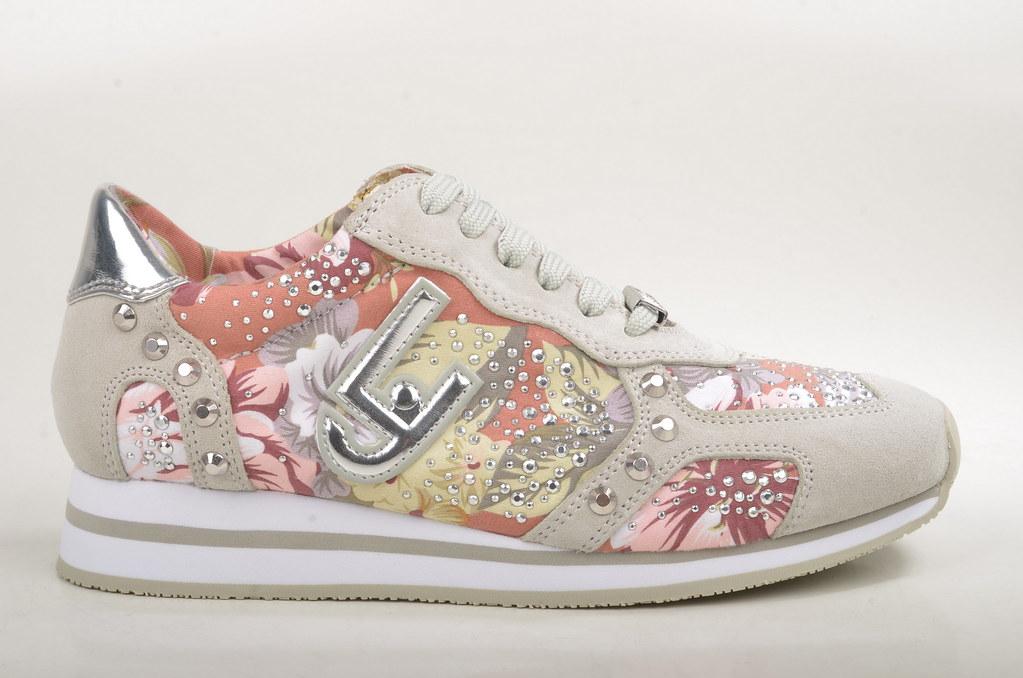 ea98c2e1dd4 Liu Jo Running Marguerite Sneaker im floralen Print Kalbsleder grau (grey)  (2)