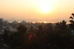 sunrise over Bombay, 3 of 3 (olive witch) Tags: trees light sun india skyline sunrise outdoors december day horizon bombay mumbai bandra dec15 2015 abeerhoque