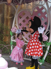 Dancing with Minnie Mouse (Sim-tov) Tags: california vacation portrait holiday mouse disneyland chanukah dec surprise minnie anaheim noa 2015