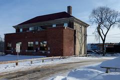 Behind Main Street (bryanscott) Tags: ca winter snow canada building architecture alley winnipeg manitoba northend backlane