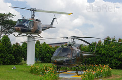 Huey and Squirrel duo (eLaReF) Tags: museum squirrel singapore force duo air huey paya fennec saf iroquois uh1 lebar