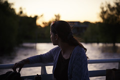 (Nowhere land ) Tags: sunset portrait woman girl ro river atardecer mujer chica retrato railing baranda
