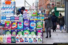 You've got the pow(d)er! (jongoikoh) Tags: street ireland people dublin lady photography calle europe gente market powder wash sales society irlanda rebajas seora ambulante detergente jendea