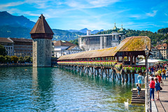 walkway to Heaven... Luzern - Switzerland (fgazioli) Tags: sky lake nature switzerland swiss luzern eurotrip lucerna swissalps lucern kapellbrcke luzernlake bestplacestogo
