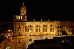 Catedral Malaga La Manquita Andalusia Spain at night (roli_b) Tags: espaa church night de lights noche la photo spain foto cathedral magic kathedrale catedral iglesia andalucia espana andalusia malaga spanien nachtaufnahme manquita lamanquita