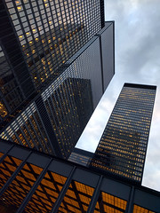 towers (Ian Muttoo) Tags: toronto ontario canada gimp tdcentre torontodominioncentre 20160307175105edit
