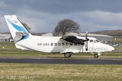 OK-UBA Let L-410-UVP-E16 Citywing Glasgow airport EGPF 07-04-16 (rjonsen) Tags: plane airplane airport europe glasgow aircraft air twin van let eingine vanair egpf tubolet