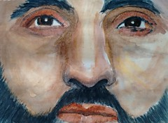 Babar Ahmad (Utopist) Tags: portrait men watercolor watercolour ahmad babar