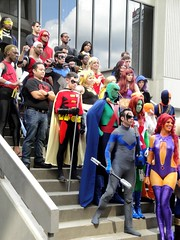 Teen Titans (Wrath of Con Pics) Tags: robin cosplay superman batman static starfire dccomics raven superboy dragoncon teentitans nightwing slade wondergirl martianmanhunter deathstroke aqualad youngjustice timdrake missmartian ravager staticshock dragoncon2012