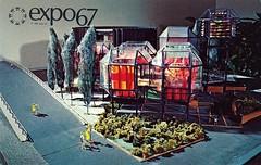Vintage Expo 67 Postcard, The 1967 Montreal World's Fair - The Canadian National Railway Pavilion (France1978) Tags: montreal worldsfair expo67 vintageexpo67 the1967montrealworldsfair