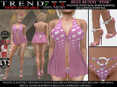 TREND - SEXY BUNNY OUTFIT - PINK (Jazzy Serra) Tags: bunny panties easter venus secondlife heels playboy isis freya belleza easterbunny physique hourglass tmp nighty maitreya negligee slink sexybunny themeshproject meshbodies