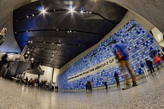 fisheye photography: 911 memorial museum in downtown new york (norlandcruz74) Tags: world new york city nyc usa ny museum lens us nikon memorial long exposure slow angle 911 wide center 11 september fisheye cruz shutter filipino 8mm trade ultra pinoy bower dx norland d5100