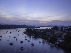 good morning Sydney (bart.kwasnicki) Tags: bridge water clouds sunrise boats harbour sydney australia nsw