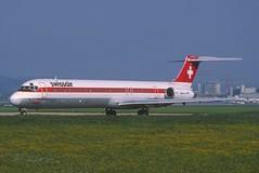 Swissair MD-82; PH-MBZ, May 1989