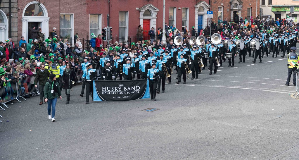 HAGERTY HIGH SCHOOL MARCHING HUSKIES [DUBLIN 2016 PATRICK'S DAY PARADE]-112555