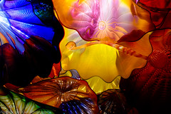 That Man Dale Chihuly Again! (Raphael de Kadt) Tags: seattle chihuly museum pacificnorthwest washingtonstate dalechihuly persianceiling chihulymuseum fujifilmxt1 fujinonxf18135mm