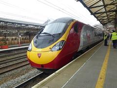 390008 at Crewe (18/4/16) (*ECMLexpress*) Tags: west coast trains class virgin crewe emu 390 pendolino wcml 390008