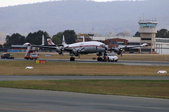 """""""Connie"""" Lockheed Constellation, Canberra, Australia (JungleJack 22) Tags: trip plane airplane fly flying inflight airport day open aircraft wing jet gear australia terminal aeroplane aerial landing journey land canberra passenger connie lockheed qantas airborne touchdown takeoff rapid aereo act airliner constellation aero avion hars  australiancapitalterritory flown albionpark yscb"""