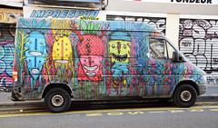 Bault (HBA_JIJO) Tags: urban streetart paris france art monster truck painting graffiti teeth graf peinture camion van dents monstre vehicule monstro charactere bault hbajijo