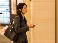 Stylish (Light J) Tags: street portrait woman color cute girl beauty japan canon tokyo pretty candid 135mm 6d