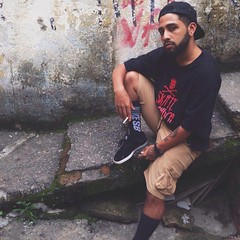 Awkward (henrisays_) Tags: boy urban blackandwhite man guy art love true sex dc amazing funny arte quality live nike skate drugs urbano pretoebranco barba nigga barbeiro niggaz niggas arteiro