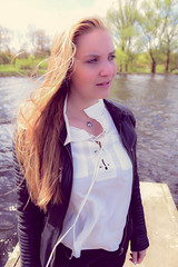 Kim Lobbezoo 6 (M van Oosterhout) Tags: portrait people woman sun lake holland cute netherlands girl beautiful face fashion female clouds model pretty photoshoot modeling stunning editorial
