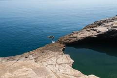 JUMP (shot37) Tags: sea summer beach pool relax island seaside jump jumping nikon relaxing rocky sunny greece enjoy easy enjoyment backflip bluesea thassos shot37   summeringreece giola nikond700 greeksummer nikonsrbija nikonserbia