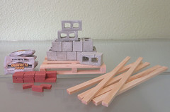 Miniature Construction Materials (MurderWithMirrors) Tags: brick miniature construction pallet cinderblock 2x4 mwm concretemix