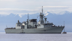 HMCS Vancouver (Paul Rioux) Tags: canada vancouver clouds washington marine ship military navy vessel canadian frigate warship canadianarmedforces olympicmountains hmcs juandefucastrait royalcanadiannavy canadiannavy prioux