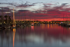 marina del rey sunset (sjg310) Tags: longexposure sunset reflection clouds marina la boat losangeles le marinadelrey