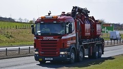 SV10 BBU (panmanstan) Tags: truck wagon scotland lorry commercial vehicle scania a90 r560 stracathro