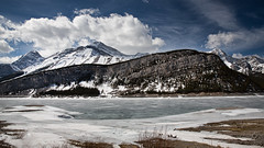 Frozen lake (Mark Heine Photos) Tags: ca canada wow kananaskis rockies frozen canadian alpine alberta rockymountains canmore goatmountain spraylakesreservoir markheine