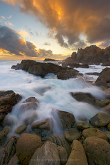 Surge (Bob Bowman Photography) Tags: ocean california light sunset sea sky seascape water northerncalifornia rock clouds landscape nikon tide sonoma sonomacounty serene