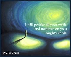 Psalm 77:12 (joshtinpowers) Tags: bible psalms scripture