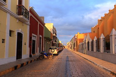 Campeche, Mexico (nikidel) Tags: streets america buildings de mexico san francisco pastel colonial central cathederal unesco cobblestone yucatn colourful peninsula fairyland narrow campeche malecn panamerica colourhouse
