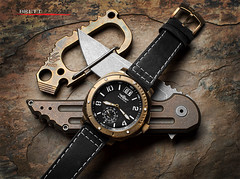 Balmer Bronze DB5  1 of 99 (Fly to Water) Tags: bronze jake swiss watch knife jens v3 weapon balmer edc custom titanium limited edition quartz folder folding carabiner tanto db5 anodized edged anso hoback 47mm kwaiken ans kwaiback