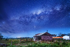 farm under the stars (Indigo Skies Photography) Tags: road street pink blue autumn winter light red summer sky orange white holiday black color colour green home me nature field yellow night clouds farmhouse stars landscape person star nikon farm country galaxy shooting universe paddock milkyway milkingshed galacticcentre