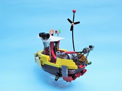 Tubboat 03 (JPascal) Tags: boat flying lego tugboat