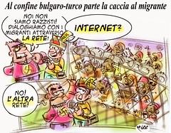 The Bulgarian... Web! (Moise-Creativo Galattico) Tags: confine bulgaria vignette satira attualit rete moise turchia giornalismo razzismo migranti editoriali moiseditoriali editorialiafumetti