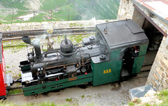 Brienz Rothorn Bahn - Locomotive No. 5 built by SLM for the WAB in 1891 at the Summit on the 9th July 2012 (trained_4_life) Tags: switzerland brb berneseoberland cograilway brienzrothornbahn rackrailway
