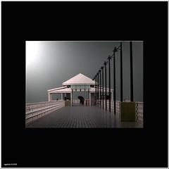 pier framed 3 (Explore) (agphoto100) Tags: people white rain photoshop dark lights evening pier fuji jetty explore railings sandgate topf450 shorncliffe explored f770exr flickrclix
