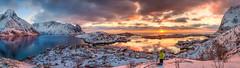 Fire and Ice (Mark McLeod 80) Tags: winter mountains norway lofoten reine fjords lofotenislands hamny markmcleod sigma24105f4art markmcleodphotography