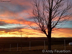 April 6, 2016 - A gorgeous sunset as seen from Simla. (Andy Feuerborn)