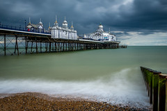 Eastbourne Pier | East Sussex | United Kingdom (Jamie Dean) Tags: sky beach architecture clouds landscape coast pier seaside waves shore eastbourne groynes