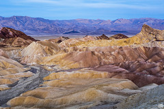 Zabriskie Point at Dawn (lycheng99) Tags: mountains nature landscape rocks pattern bluesky deathvalley zabriskie zabriskiepoint palette rockformation deathvalleynationalpark colorpalette 2016deathvalley