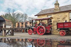 Beamish Station (Ben Matthews1992) Tags: old tractor reflection museum vintage puddle compound rally transport traction engine lizzie historic steam marshall beamish vehicle preserved trailer preservation 5ton haulage 2016 65650 4nhp be2227 beamish2016 carriemore greatwarsteamfair